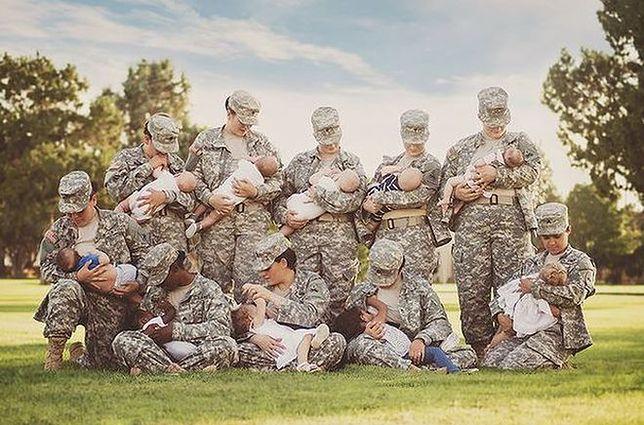 Zdjęcie żołnierek karmiących piersią hitem sieci