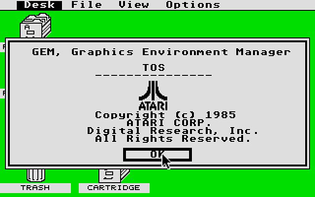 TOS w wersji 1.00 pojawił się w pierwszych seriach Atari 520ST. tylko jako wersja na dyskietkach.