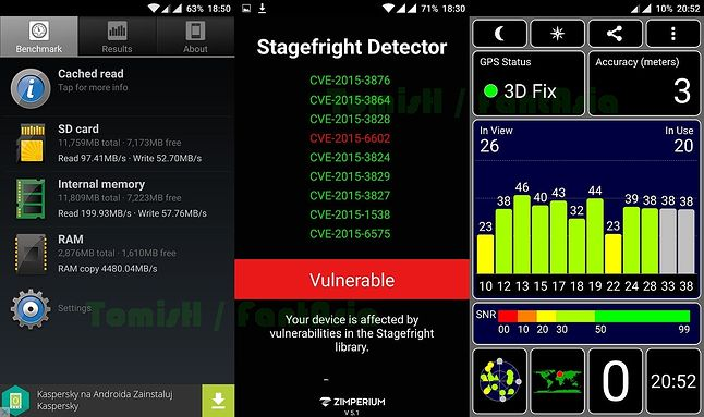 A1 SD Bench / Stagefright Detector / GPS