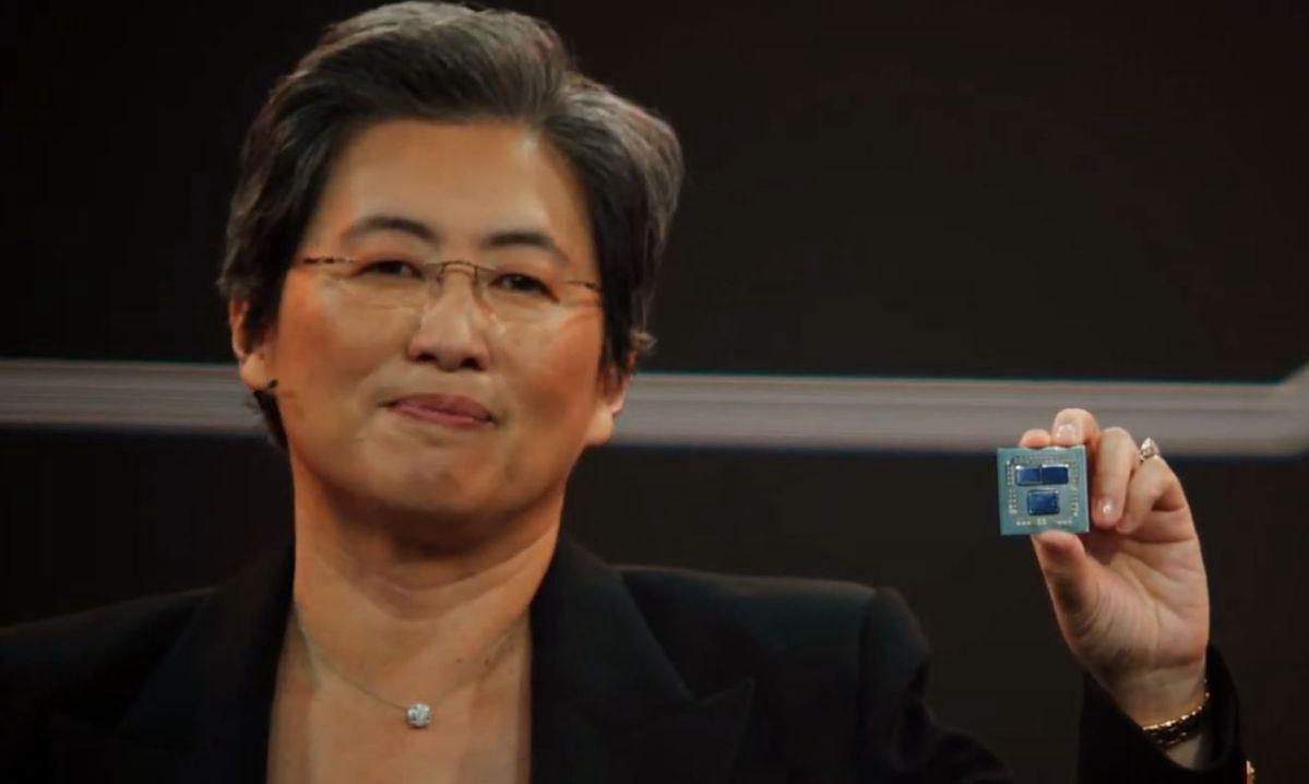 AMD pokazuje rewolucyjną technologię. Procesory będą dużo szybsze - Lisa Su prezentuje prototypowy procesor Ryzen wykorzystujący pamięć podręczną 3D V-Cache