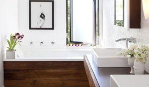 Aranżacja łazienki z drewnem. Łazienka - INSPIRACJE