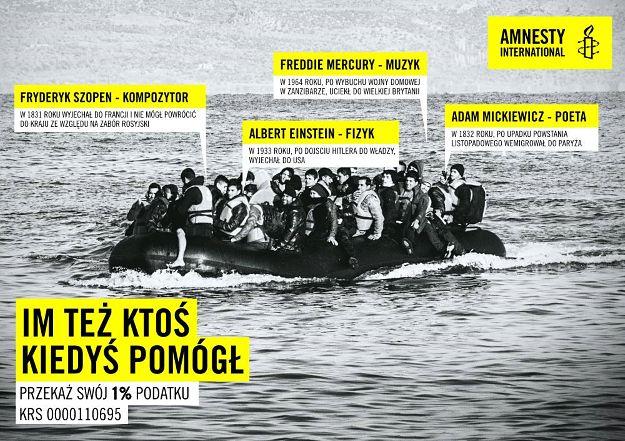 Amnesty International porównuje słynnych Polaków do imigrantów