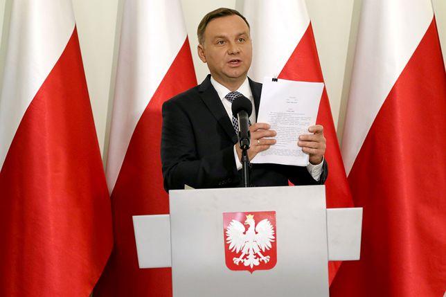 """Andrzej Duda skarży się na """"Wiadomości"""" TVP"""
