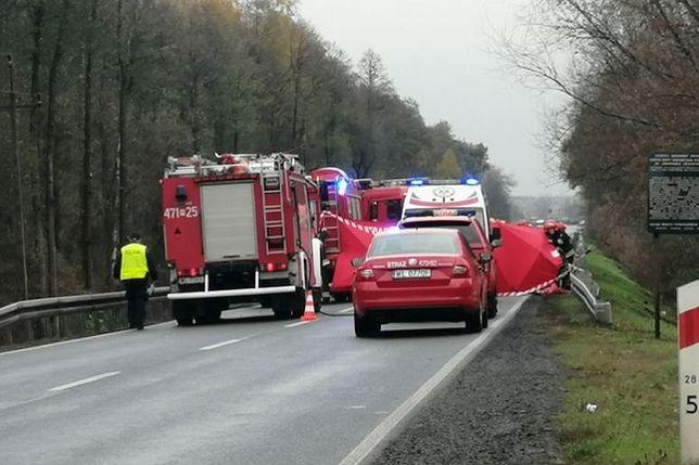Wypadek na DK61. Trasa zablokowana