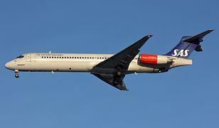 Samolot MD-87 w barwach linii SAS (zdjęcie ilustracyjne)