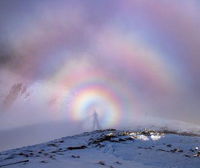 Widmo Brockenu w Tatrach. Tajemnicza poświata uchwycona przez turystę