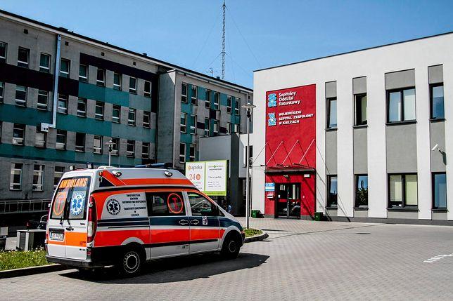 Kobieta trafiła do kieleckiego szpitala po tym, jak prawdopodobnie napiła się skażonej wody mineralnej