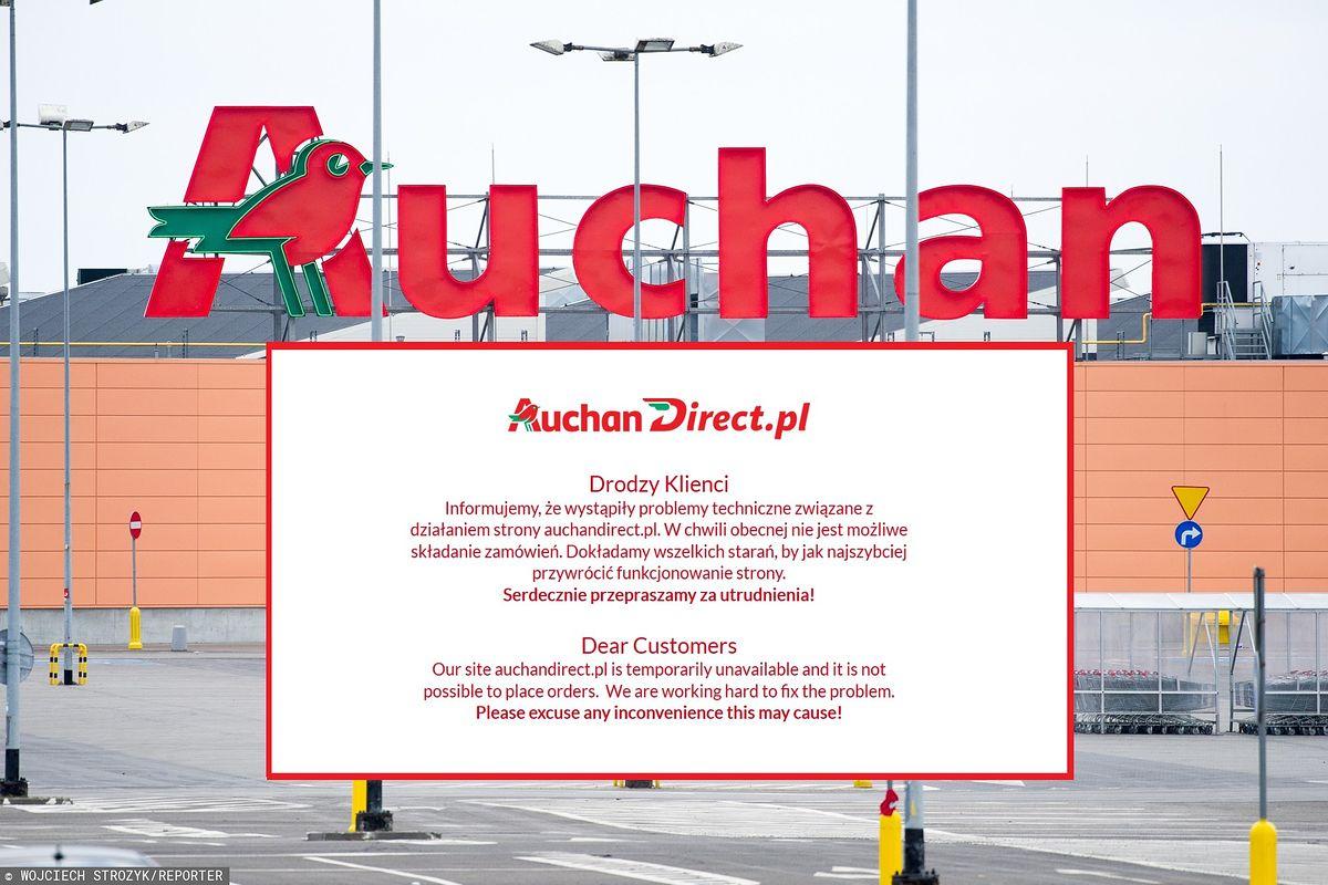 W Auchan nie można robić zakupów przez Internet. Klienci zaniepokojeni