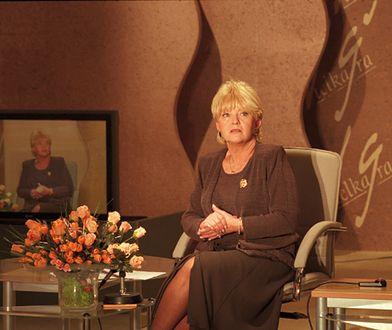 """Teleturniej """"Wielka gra"""" w 2000 r. Na zdjęciu prowadząca program Stanisława Ryster"""