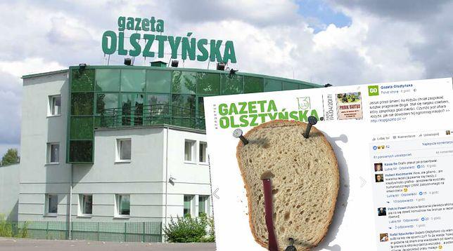 Redaktorzy ukrzyżowali chleb. Świąteczna okładka regionalnej gazety to hit sieci