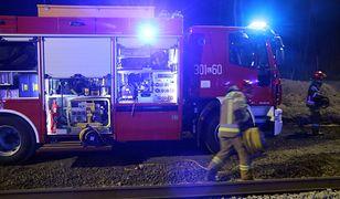 Małopolskie. Zapaliła się lokomotywa z wagonami do przewozu paliwa