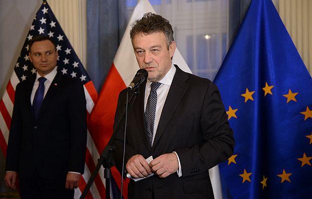 Prezydent Andrzej Duda i ambasador Polski w USA Ryszard Schnepf