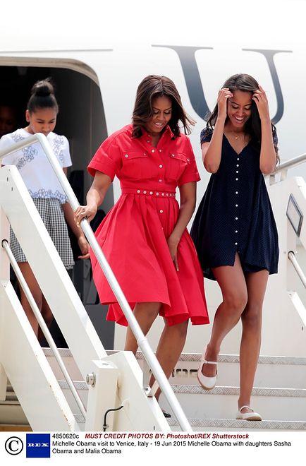 Michelle Obama z córkami