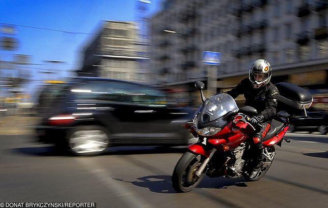 Motocykl w mieście