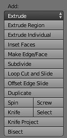 Funkcje dodające wierzchołki/krawędzie/ścianki