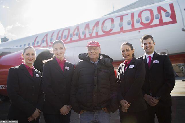 Linie lotnicze Laudamotion od 2020 r, będą latać do Modlina. Szefem linii był legendarny kierowca F1 Niki Lauda (zdjęcie z 2018 r.)