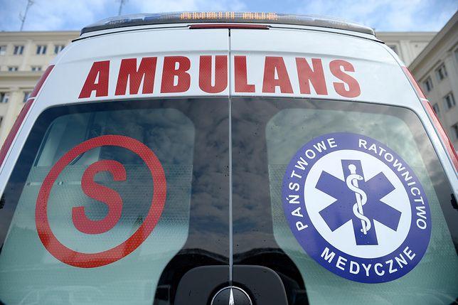 Robotnicy zostali przewiezieni do szpitala