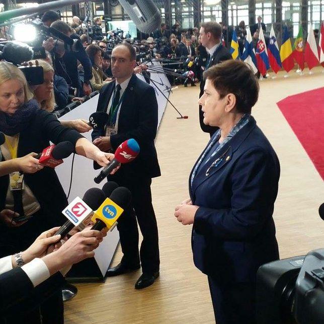 Beata Szydło przed posiedzeniem Rady Europejskiej