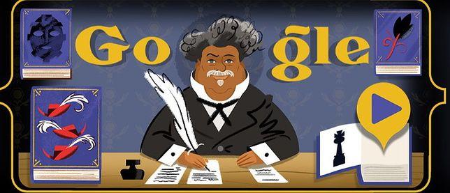 Alexandre Dumas w Google Doodle. Google upamiętnia francuskiego pisarza