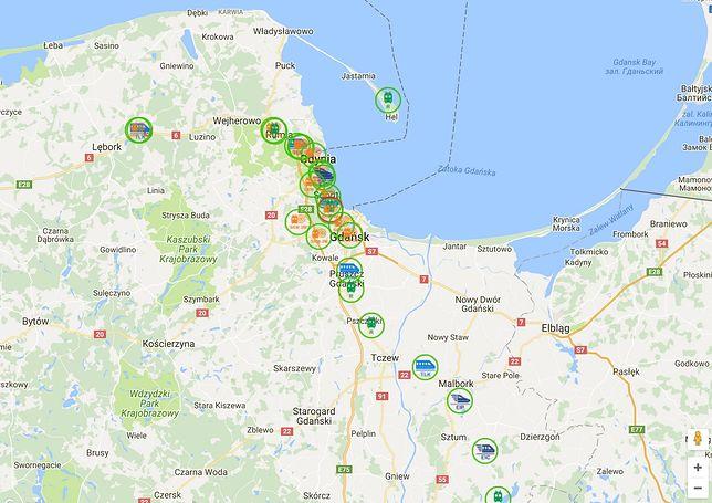 Mapa pociągów
