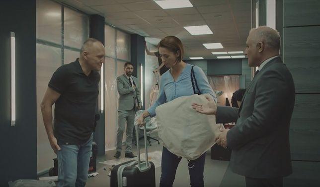 """Obsada serialu """"Ślad"""". Od lewej: Mariusz Jakus, Anita Jancia, Przemysław Bluszcz"""