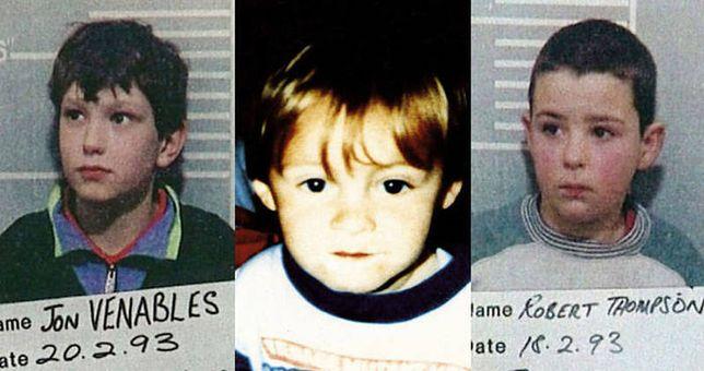 Niespełna 3-letni James Bulger i jego oprawcy - Jon Venables i Robert Thomson