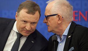 Były prezes TVP Jacek Kurski oraz przewodniczący RMN Krzysztof Czabański