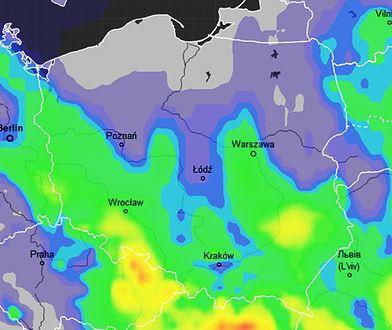 We wtorek strefa opadów obejmie dużą część Polski