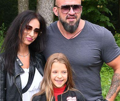 Tomasz Oświeciński z byłą żoną i córką