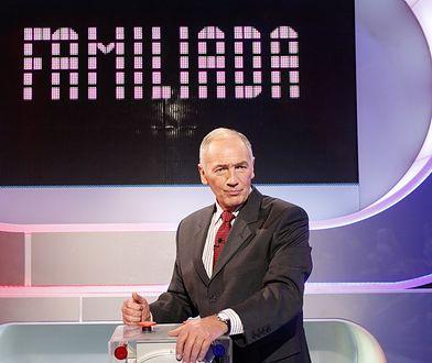 "Karol Strasburger na planie ""Familiady"""