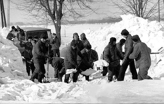 Tak wyglądała zima stulecia - zdjęcia