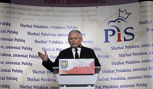 Jarosław Kaczyński na konwencji w Katowicach przed poprzednimi wyborami samorządowymi