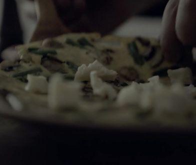 Omlet z pieczarkami i zieloną fasolką. W sam raz na śniadanie