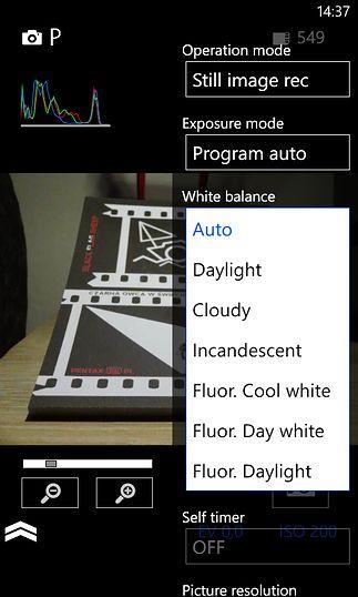 Wybór balansu bieli