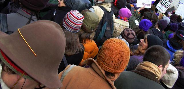 Protest pracowników firmy Kler