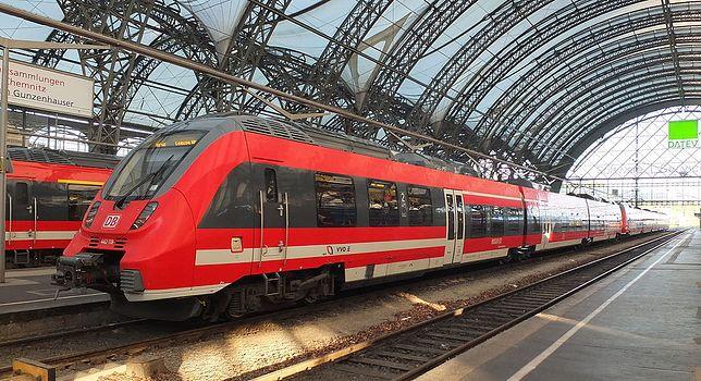 Dworzec kolejowy w Dreźnie.