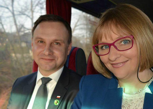 Posłanka Barbara Bartuś z prezydentem Andrzejem Dudą