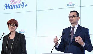 """Premier Morawiecki poinformował we wtorek, że rząd przyjął program """"Mama 4 Plus"""""""