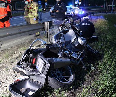 Warszawa i okolice. Coraz więcej śmiertelnych wypadków z udziałem motocyklistów.