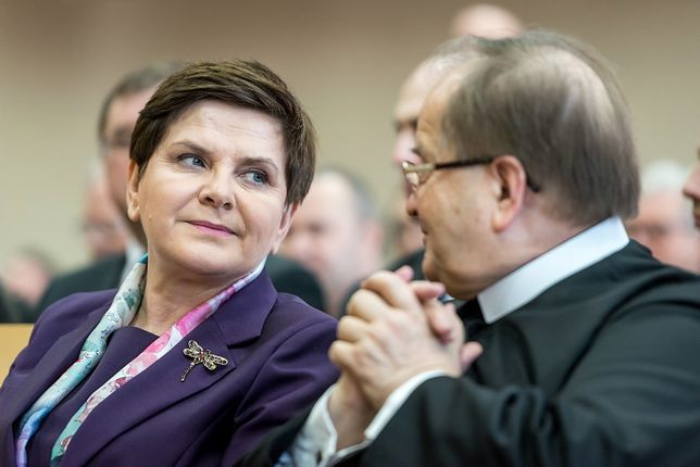 Premier Beata Szydło i ojciec Tadeusz Rydzyk