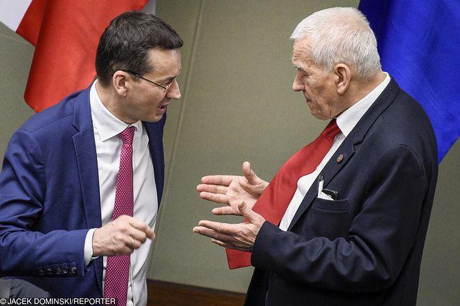 Mateusz Morawiecki i Kornel Morawiecki w Sejmie