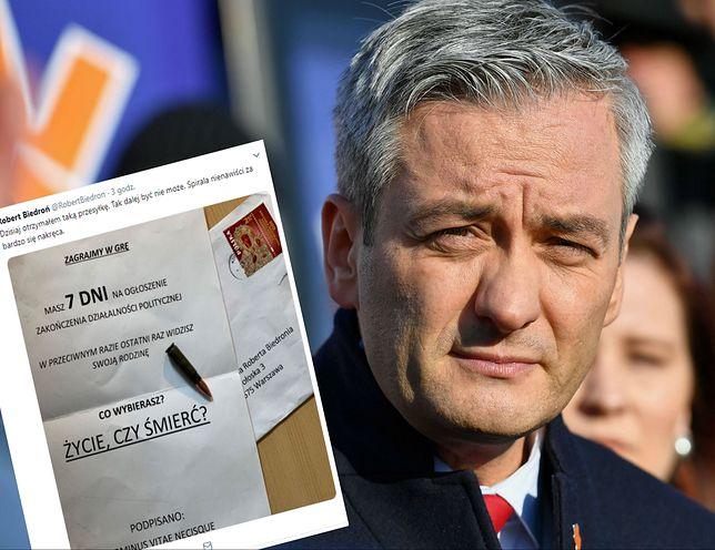 """Robert Biedroń dostał list z pogróżkami. """"Tak dalej być nie może"""""""