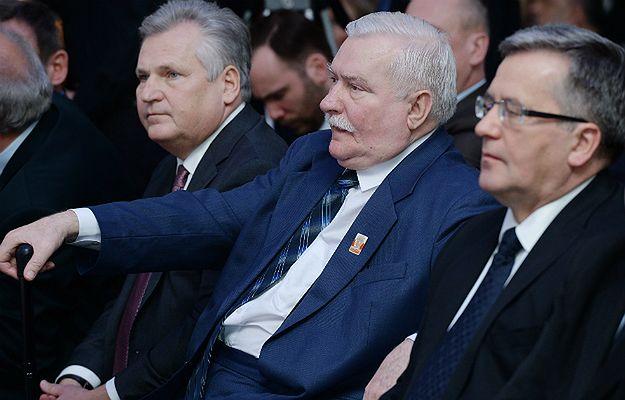 Byli prezydenci RP: Aleksander Kwaśniewski, Lech Wałęsa oraz Bronisław Komorowski