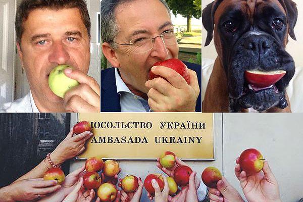Robią na złość Putinowi. Akcja #jedzjabłka opanowała Polskę