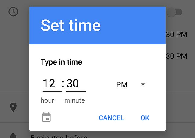 http://www.androidpolice.com/2017/03/23/android-o-feature-spotlight-time-picker-now-manual-text-entry-mode/