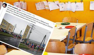 """""""Minimum 40 minut w deszczu, żeby wejść do przedszkola"""". Oburzeni rodzice publikują zdjęcia"""