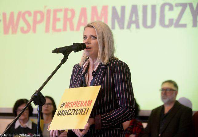 Strajk nauczycieli. Gwiazdy zagrają koncert, by wyrazić swoje poparcie. Na zdjęciu Maria Sadowska