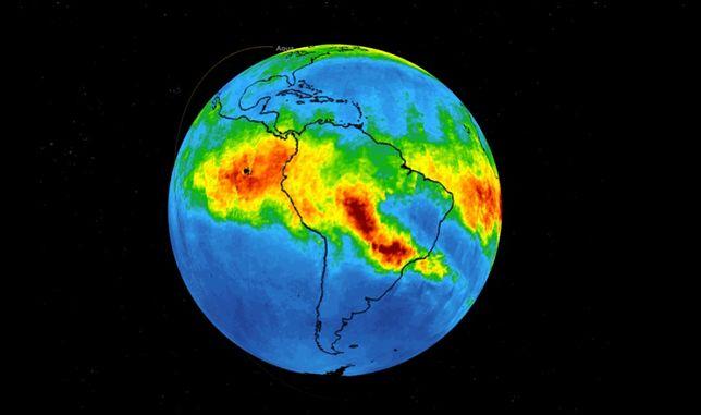 Amazonia. Pożary przyczyniają się do globalnego ocieplenia. NASA opracowuje mapy