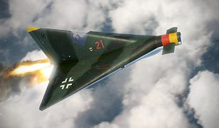 Artystyczna wizja samolotu Lippisch P13A