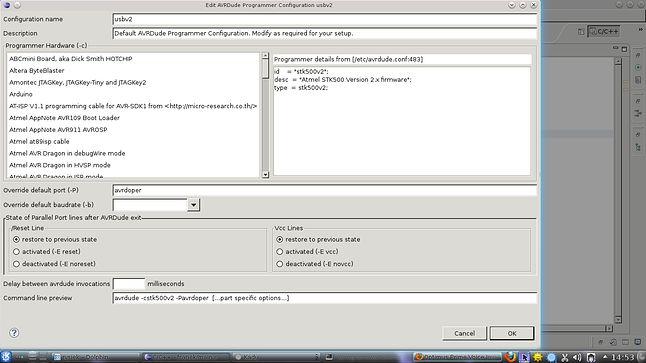 Ustawienia Programatora USB prog v2